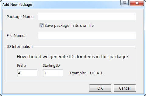 organize requirements into packages
